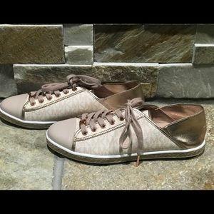 MICHAEL Michael Kors Shoes - NEW, MK authentic pink monogram city sneakers